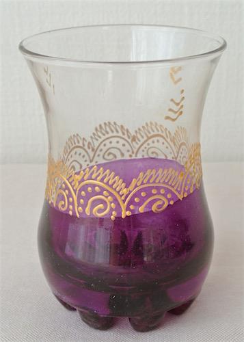 ミントティーグラス 紫
