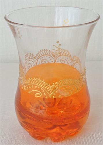ミントティーグラス オレンジ