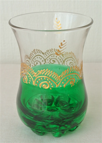 ミントティーグラス 緑